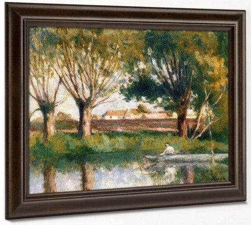 Banks Of The River By Maximilien Luce By Maximilien Luce
