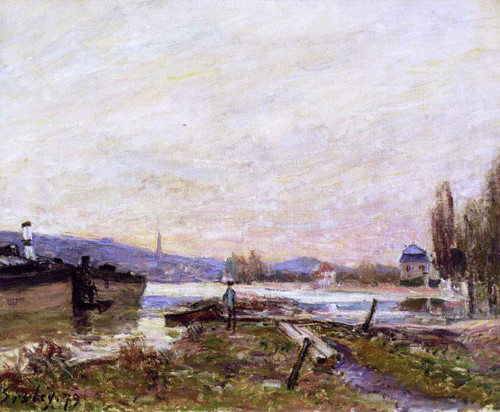 Banks Of The Seine By Alfred Sisley