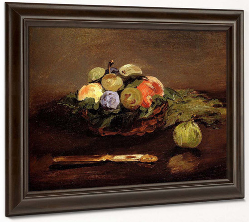 Basket Of Fruits By Edouard Manet By Edouard Manet