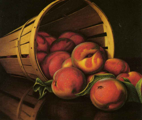 Basket Of Peaches By Levi Wells Prentice By Levi Wells Prentice