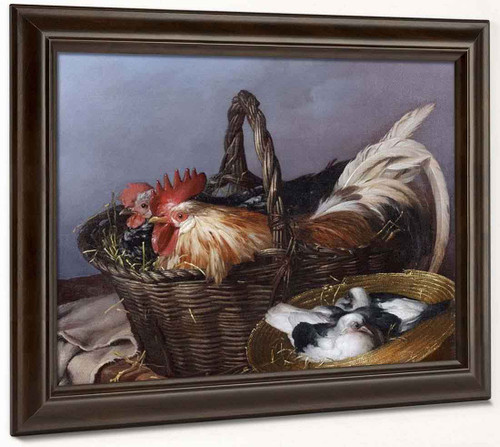 Baskets Of Chickens And Pigeons By Giacomo Ceruti