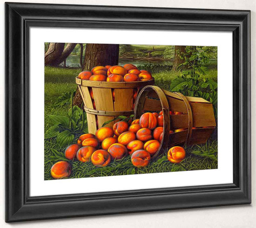 Baskets Of Peaches By Levi Wells Prentice By Levi Wells Prentice