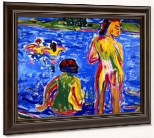 Bathers In A Pond By Erich Heckel