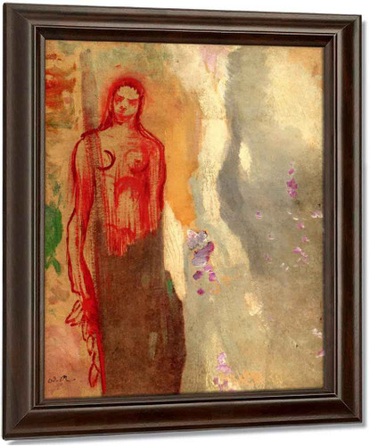Allegory In Red By Odilon Redon