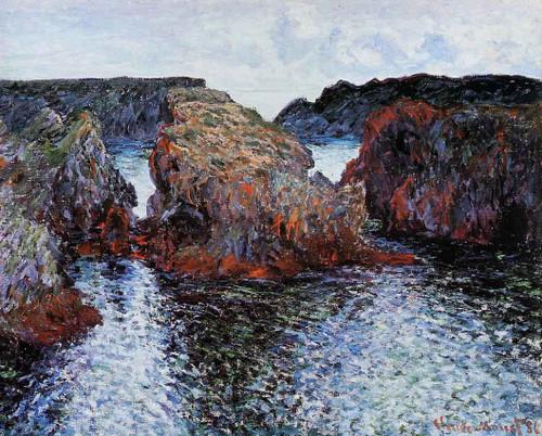 Belle Ile, Rocks At Port Goulphar By Claude Oscar Monet