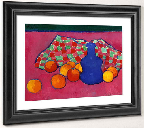 Blue Vase With Oranges By Alexei Jawlensky By Alexei Jawlensky