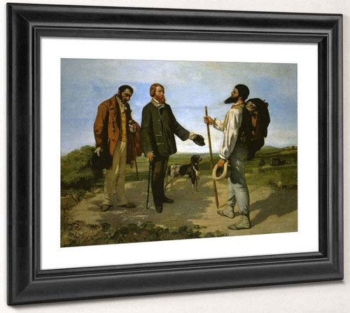 Bonjour, Monsieur Courbet By Gustave Courbet By Gustave Courbet