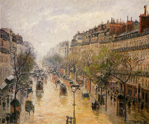 Boulevard Montmartre Spring Rain By Camille Pissarro By Camille Pissarro