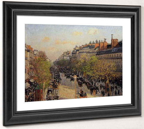 Boulevard Montmartre Sunset By Camille Pissarro By Camille Pissarro