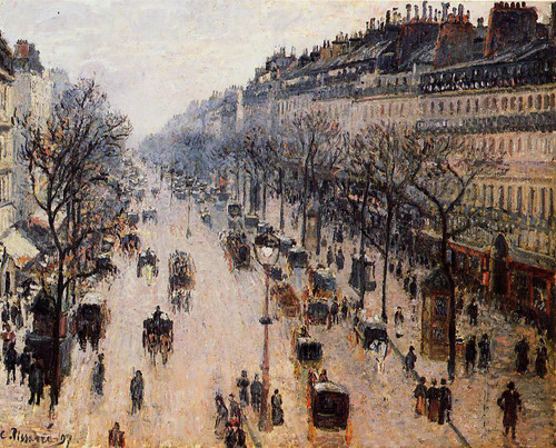 Boulevard Montmartre Winter Morning By Camille Pissarro By Camille Pissarro