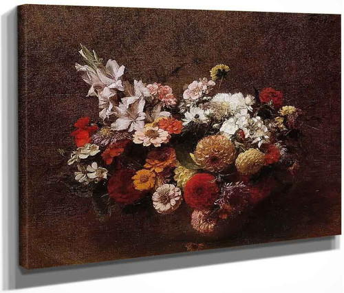 Bouquet Of Flowers By Henri Fantin Latour By Henri Fantin Latour