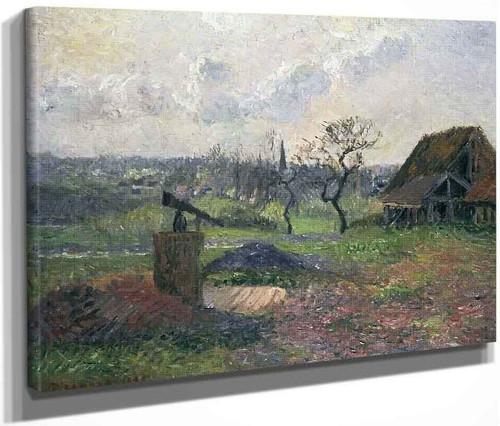 Brick Kiln, Eragny By Camille Pissarro By Camille Pissarro