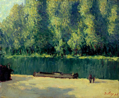 By The Loing 2 By Alfred Sisley