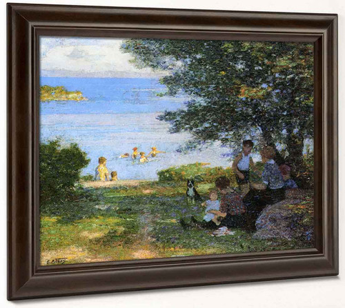 By The Water By Edward Potthast By Edward Potthast