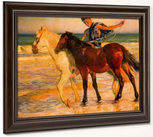 Caballos En La Playa By Jose Mongrell Torrent