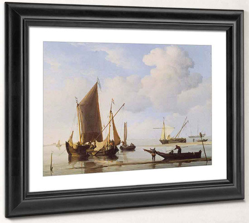 Calm Fishing Boats Under Sail By Willem Van De Velde The Younger