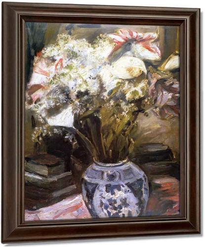 Amaryllis, Calla Lilies And Lilac By Lovis Corinth By Lovis Corinth