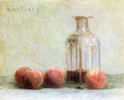 Carafe Of Wine And Four Peaches By Edouard Vuillard