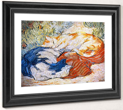 Cats By Franz Marc By Franz Marc