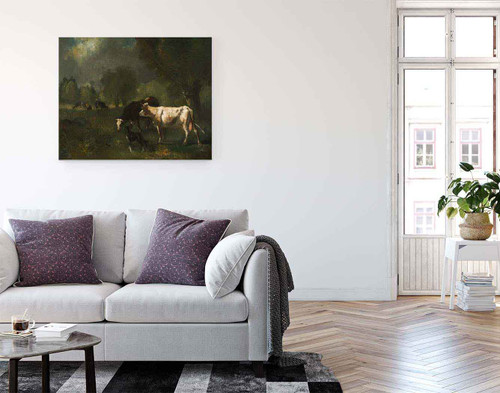 Cattle In Pasture By Constant Troyon