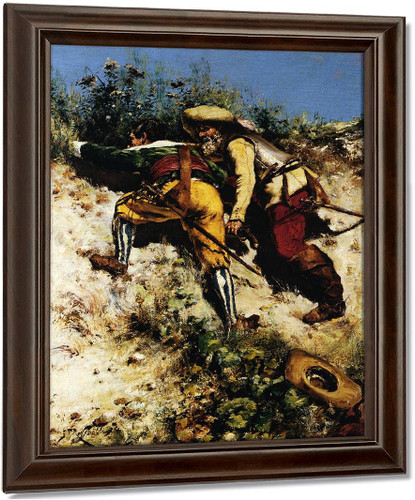 Ambush By Edward Potthast Oil on Canvas Reproduction