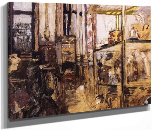 Ceramic Display Cases In The Louvre  By Edouard Vuillard