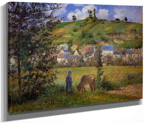 Chaponval Landscape By Camille Pissarro By Camille Pissarro