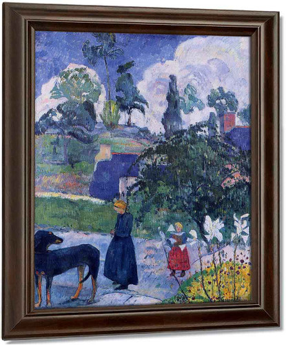 Among The Lillies By Paul Gauguin Oil on Canvas Reproduction