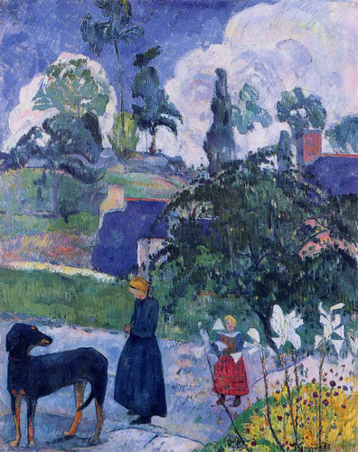 Among The Lillies By Paul Gauguin