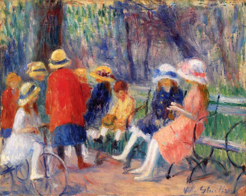 Children In The Park By William James Glackens  By William James Glackens