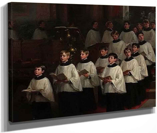 Choir Boys By William Morris Hunt  By William Morris Hunt