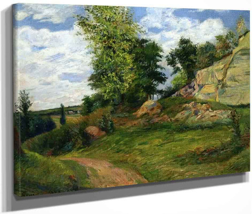 Chou Quarries At Pontoise I By Paul Gauguin  By Paul Gauguin