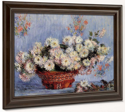 Chrysanthemums By Claude Oscar Monet