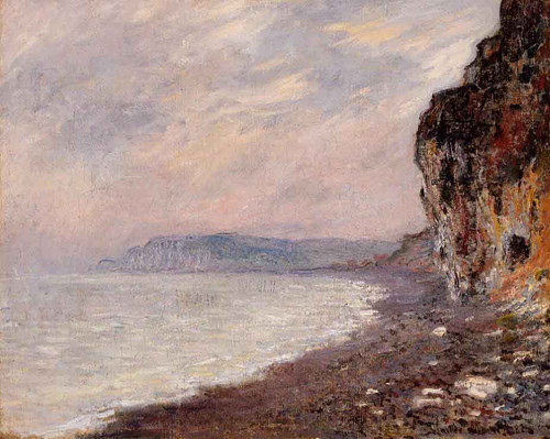 Cliffs At Pourville In The Fog By Claude Oscar Monet