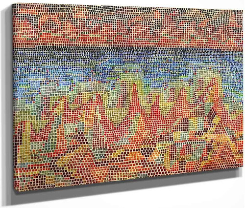 Cliffs By The Sea By Paul Klee By Paul Klee