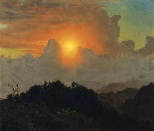 Cloudy Skies, Sunset, Jamaica By Frederic Edwin Church By Frederic Edwin Church