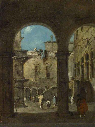 An Architectural Caprice By Francesco Guardi