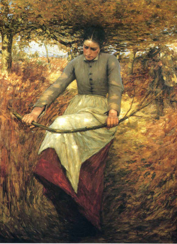An Autumn Morning By Henry La Thangue