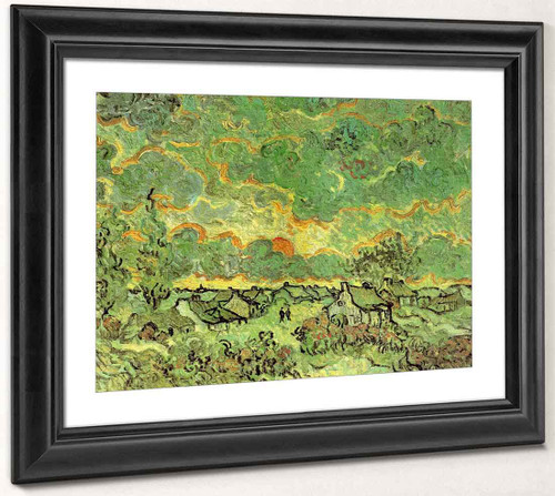 Cottages And Cypresses Reminiscence Of The North By Vincent Van Gogh