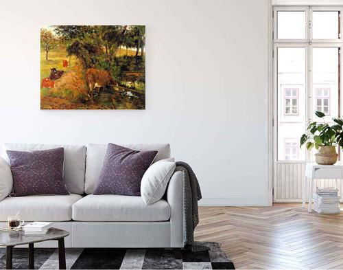 Cows Near Dieppe  By Paul Gauguin  By Paul Gauguin
