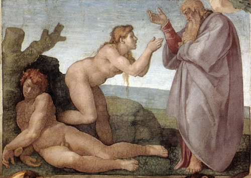 Creation Of Eve By Michelangelo Buonarroti By Michelangelo Buonarroti