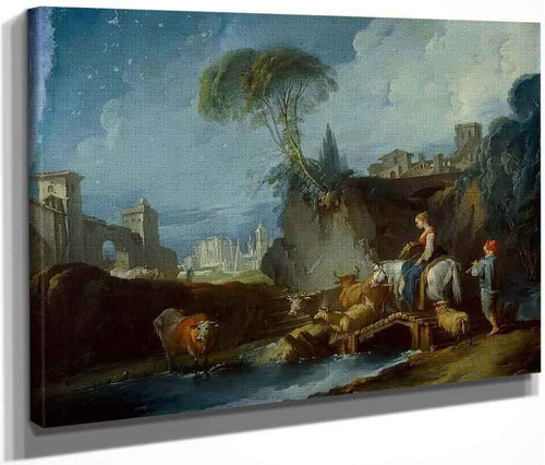 Crossing The Bridge By Francois Boucher