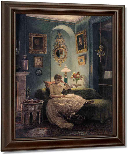 An Evening At Home By Sir Edward John Poynter Oil on Canvas Reproduction