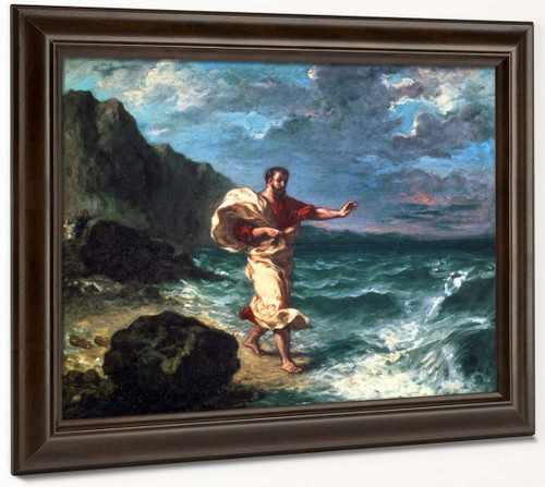 Demosthenes Declaiming By The Seashore By Eugene Delacroix By Eugene Delacroix