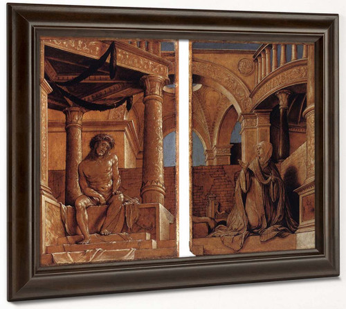 Diptych With Christ And The Mater Dolorosa By Hans Holbein The Younger  By Hans Holbein The Younger