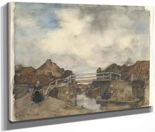 Dutch Canal, Rijswijk By Jacob Henricus Maris