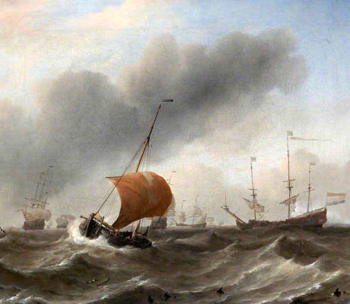 Dutch Shipping In A Heavy Swell By Willem Van De Velde The Younger