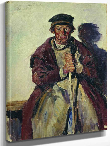 An Old Peasant By Sergei Arsenevich Vinogradov Russian 1869 1938