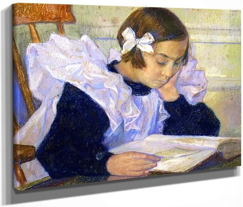 Elisabeth Reading By Theo Van Rysselberghe