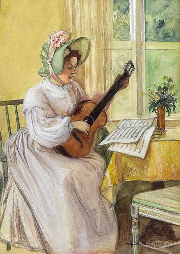 An Old Tune By Albert Edelfelt